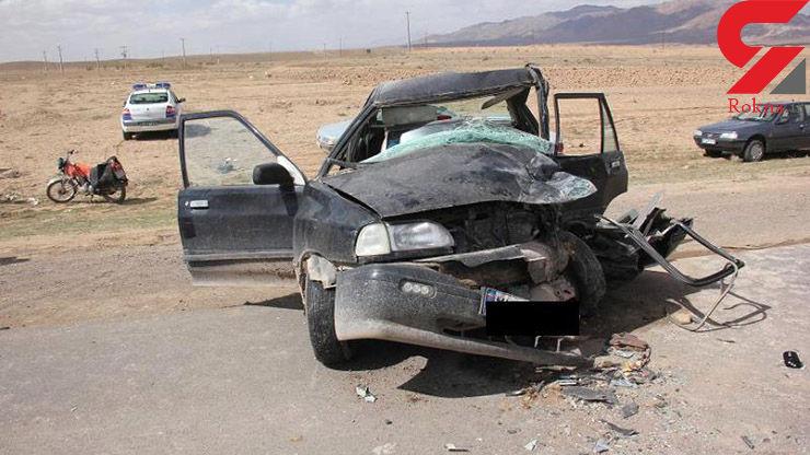تصادف شاخ به شاخ پراید با کامیون / 2 برادر کشته شدند