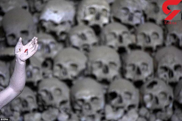 تصاویری وحشت آور از گورستان جمجمه ها در ایتالیا+عکس