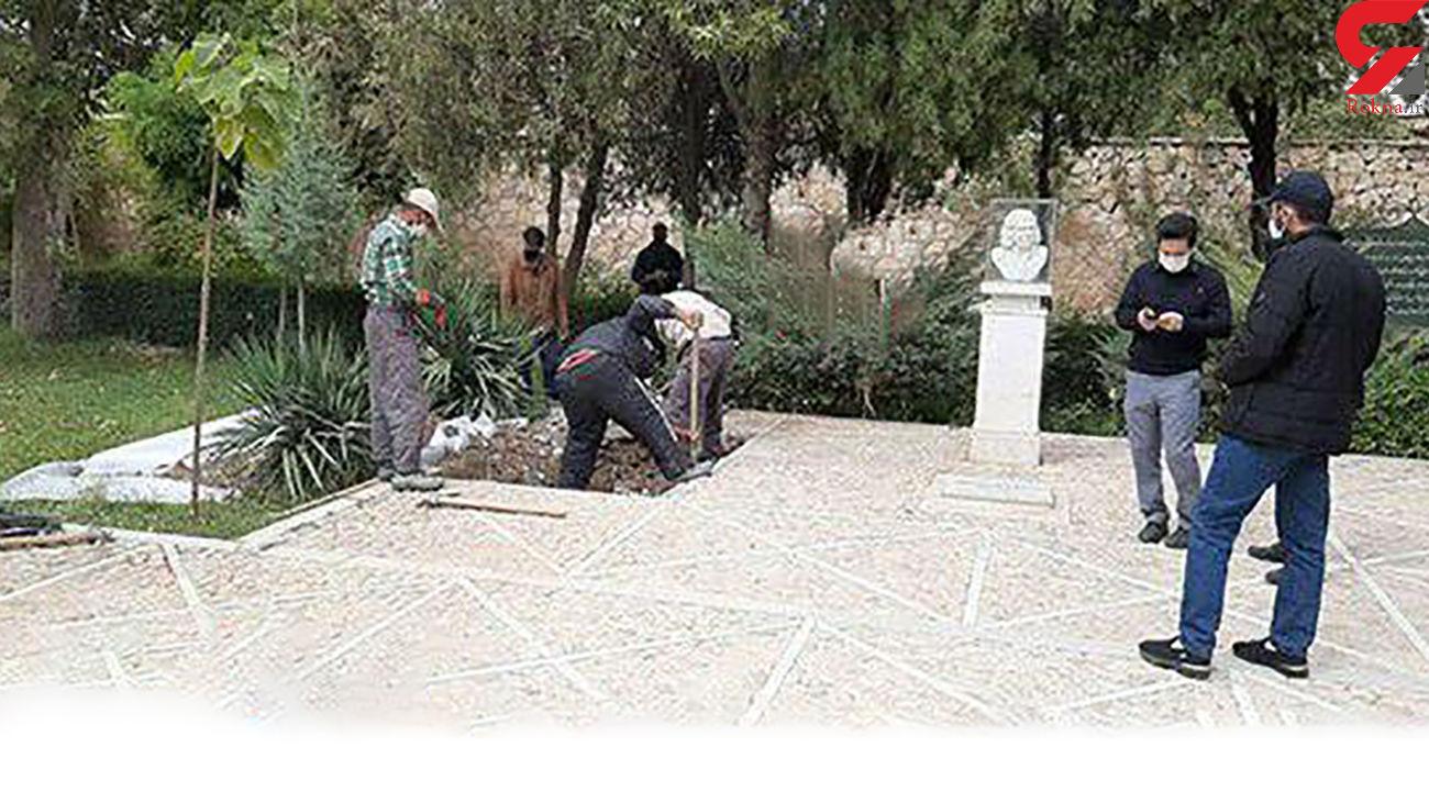 اولین عکس از محل دفن پیکر استاد محمد رضا شجریان + فیلم