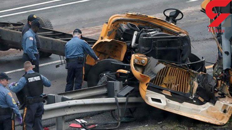 ۴۵کشته و زخمی در تصادف اتوبوس دانشآموزان با کامیون +عکس