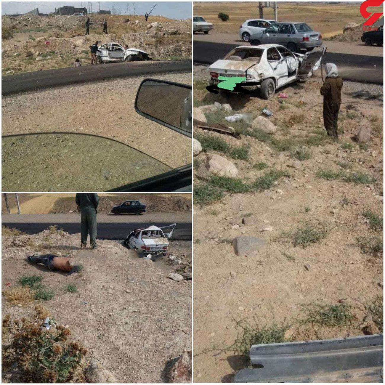 تصادف خونین در جاده درحال احداث  آلوارس