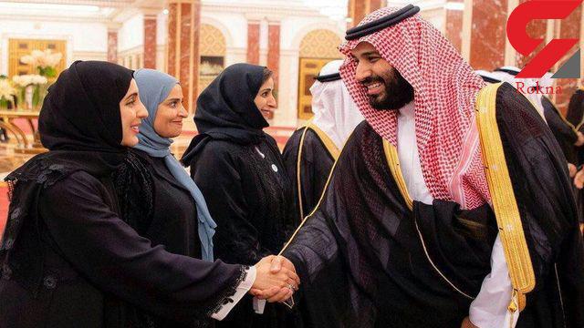 عکس جنجالی بن سلمان با یک خانم محجبه