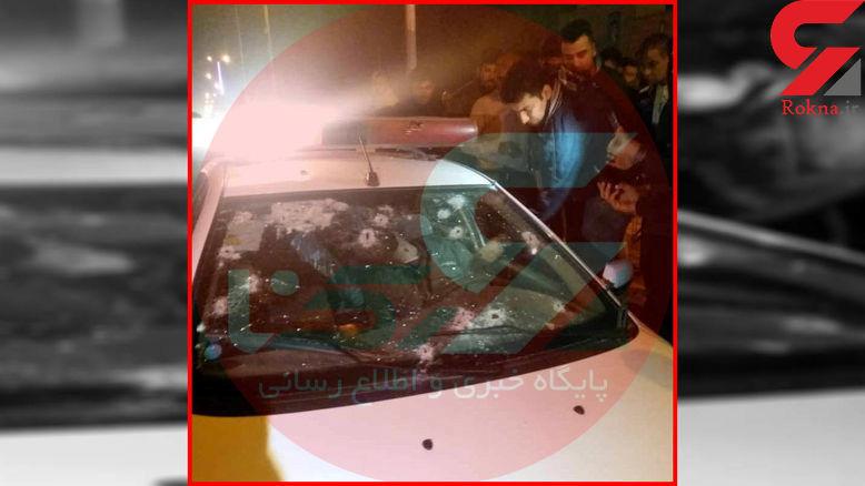 ماشین پلیس را در بندر امام خمینی را به رگبار بستند / 2 مامور شهید شدند+ فیلم لحظه حادثه و عکس