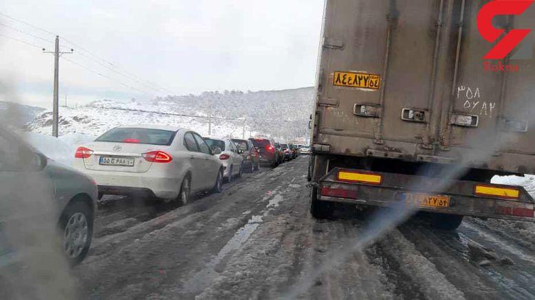 فیلم و عکس اختصاصی از فاجعه برف در جاده رشت