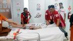 حادثه سامان مدتی در جاکارتا / او به بیمارستان انتقال یافت +عکس