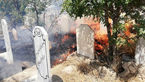 اتفاقی عجیب در گورستان بوکان / هر جمعه قبرها در آتش می سوزند! + عکس