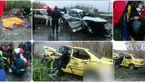 تصادف خونین برای سه خودرو در بابل+ عکس