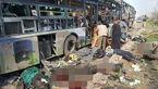 تصاویر تکاندهنده از انفجار اتوبوس /100 مسافر کشته شدند + عکس 14+