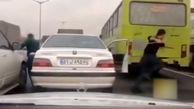 فیلم صحنه های واقعی تعقیب و گریز پلیس با مجرمان