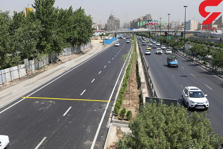 ترافیک نیمه سنگین در آزادراه کرج - قزوین / ترافیک روان در بزرگراه های پایتخت