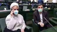 نماینده بهبود یافته از کرونا در صحن مجلس با ماسک و دستکش آمد+ عکس