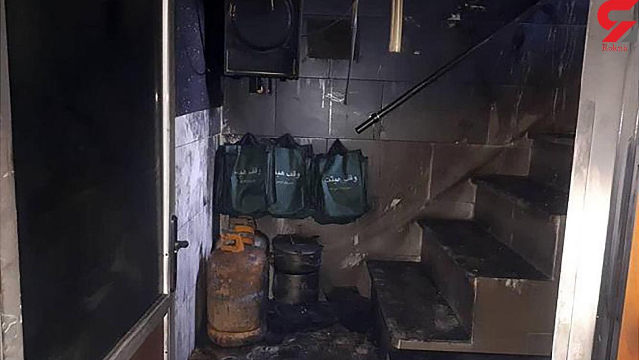 آتش سوزی در حسینیه جنوب تهران + عکس
