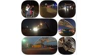 پل عابر اتوبان کرج-قزوین توسط کامیونی نصف شد ! + عکس ها