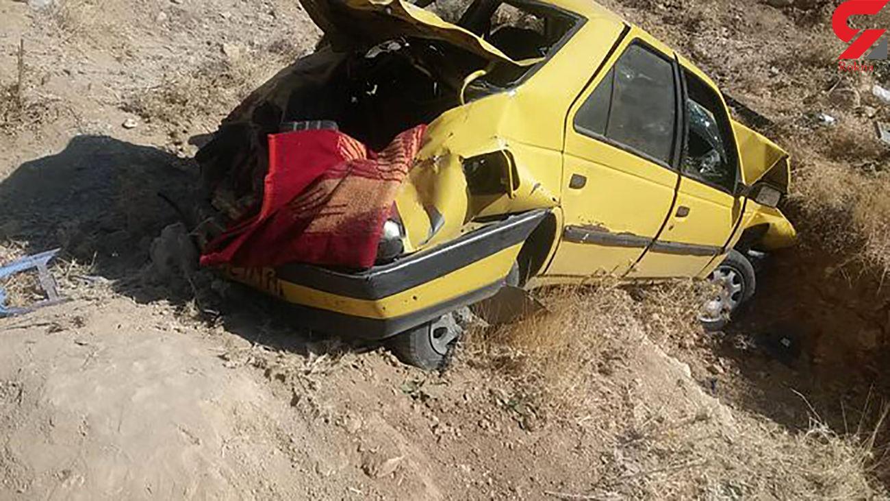 یک کشته در واژگونی سواری پژو تاکسی در سرایان