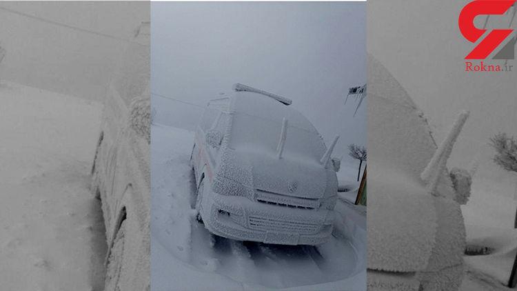 عکس عجیب از یخبندان در ورزقان / همه خانه نشین شده اند