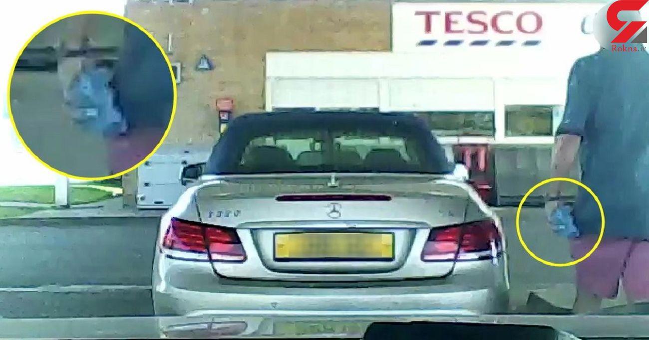 اقدام خجالت آور راننده خودروی بنز در پمپ بنزین + فیلم