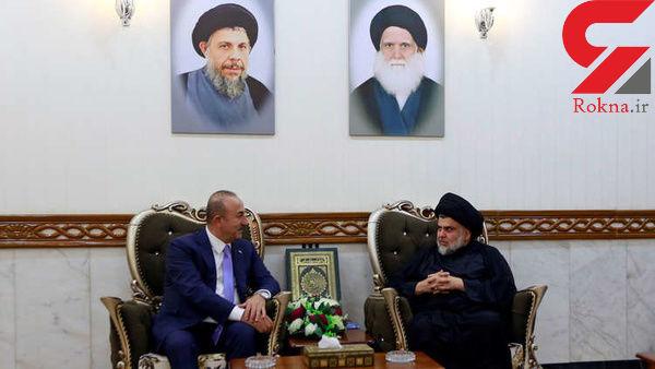 دیدار وزیر خارجه ترکیه و صدر در نجف