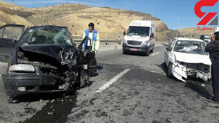12 مصدوم در تصادف وحشتناک پژو و سمند در گلستان