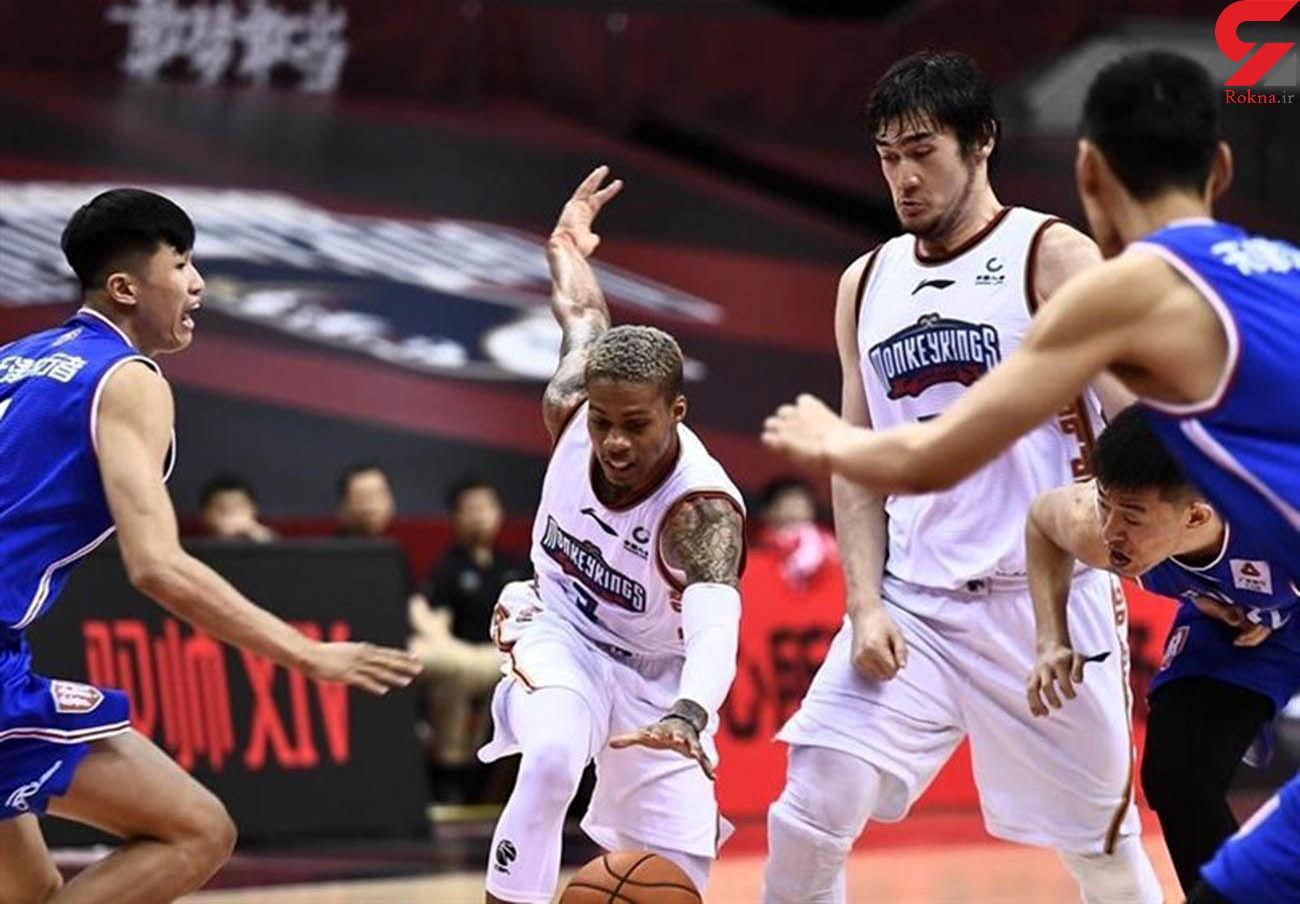 لیگ بسکتبال چین / شکست تیم نصفه و نیمه نانجینگ در غیاب حامد حدادی