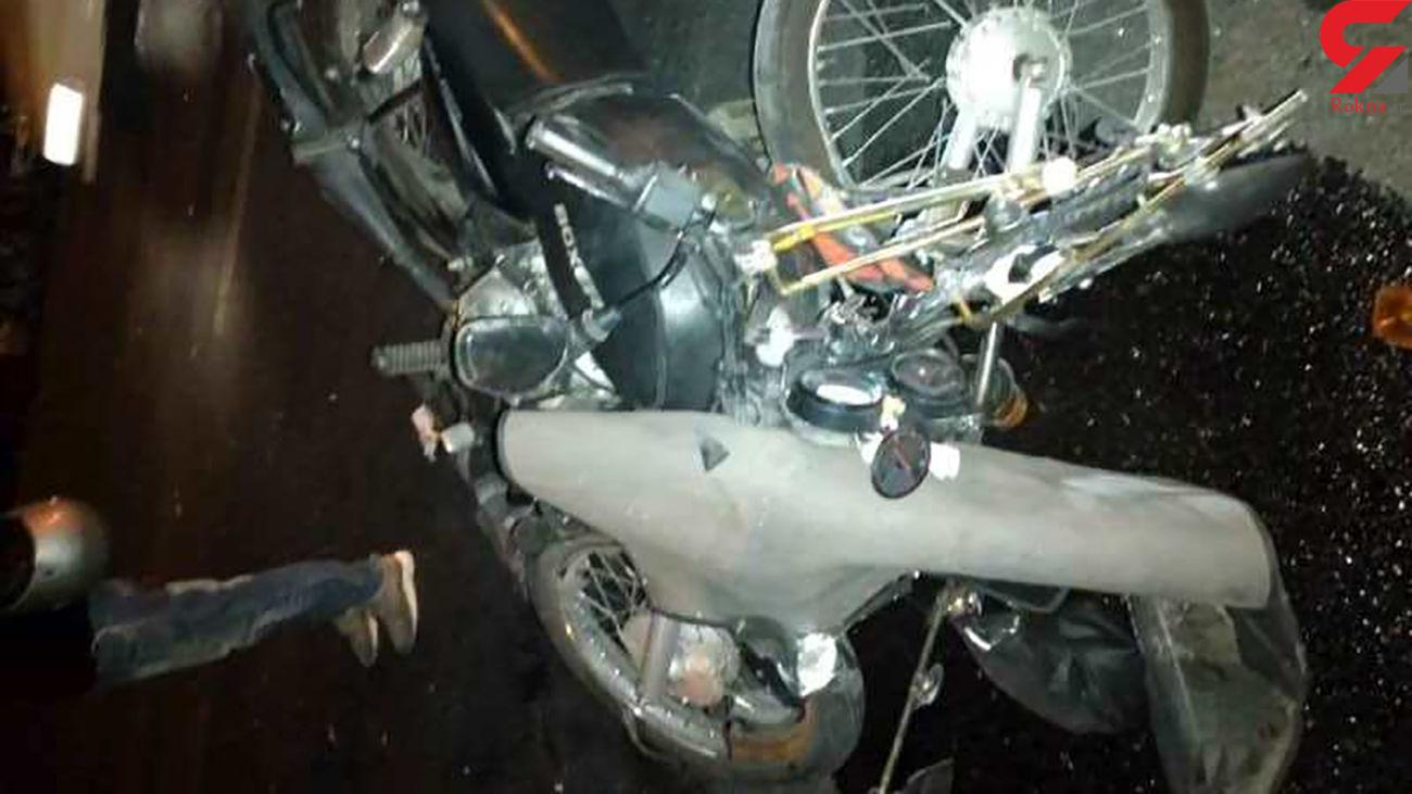 مرگ راکب موتورسیکلت و مجروح شدن ترک نشین در آزادراه