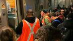 خروج قطار از ریل در نیویورک + عکس