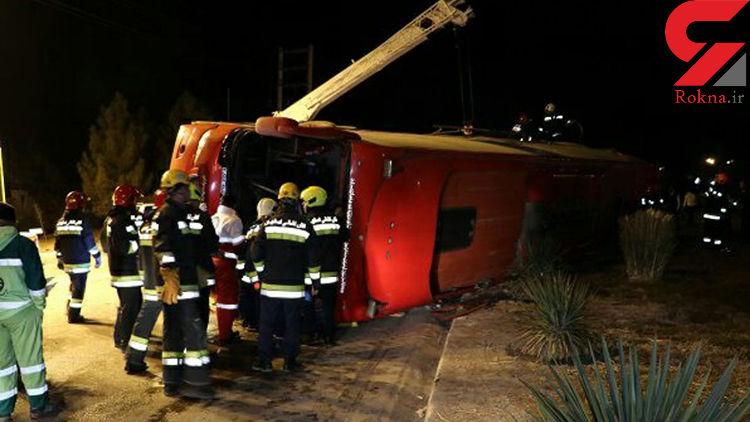 کشته شدن 9 مسافر شیراز / فاجعه بامداد امروز در اتوبوس تهران + عکس
