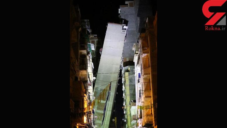 واژگونی ساختمان ۱۴ طبقه در شهر اسکندریه  + عکس