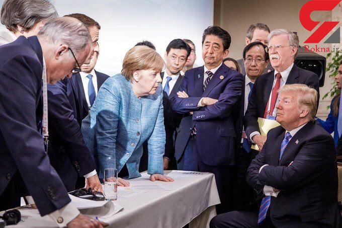 ترامپ تنها ماند + عکس