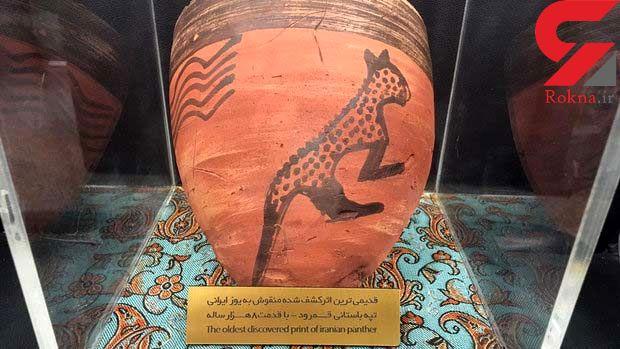 نقش یوزپلنگ ایرانی از 8 هزار سال پیش روی آثار باستانی+عکس