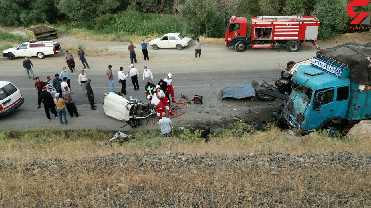تصادف در محور مهاباد - ارومیه ۲ کشته و ۲ زخمی برجا گذاشت