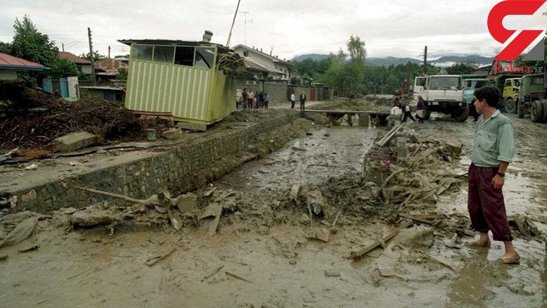 دامنه شمالی الوند در همدان تهدیدی در مواقع سیلاب است