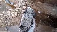 فیلم سقوط خودروی جوان ایذه ای به پایین پل / او جان باخت