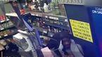 فیلم حمله سارقان مسلح به پمپ بنزین / کتک کاری شدید کارگر پمپ بنزین / انگلیس