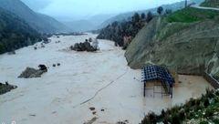 روستایی در کهگیلویه و بویراحمد کامل زیر آب رفت+عکس