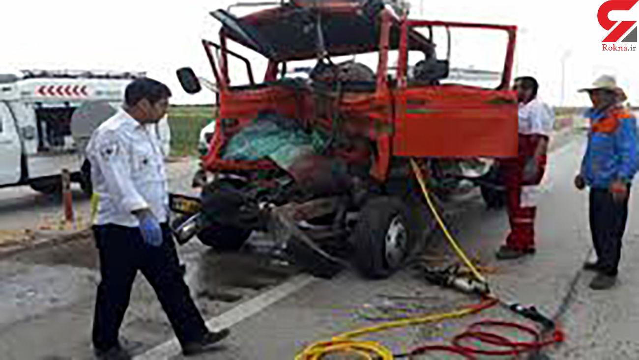 خواب آلودگی مرگبار تریلر در جاده زنجان + عکس