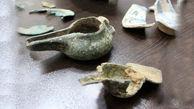 کشف اشیای عتیقه دوره عصر آهن در ساری