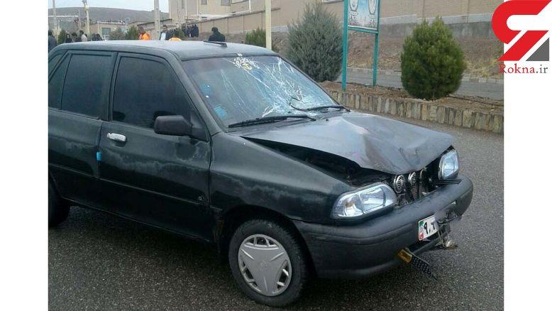 مرگ دردناک محدثه وسط خیابان شهر قهستان / او دانش آموز بود + عکس لحظه حادثه