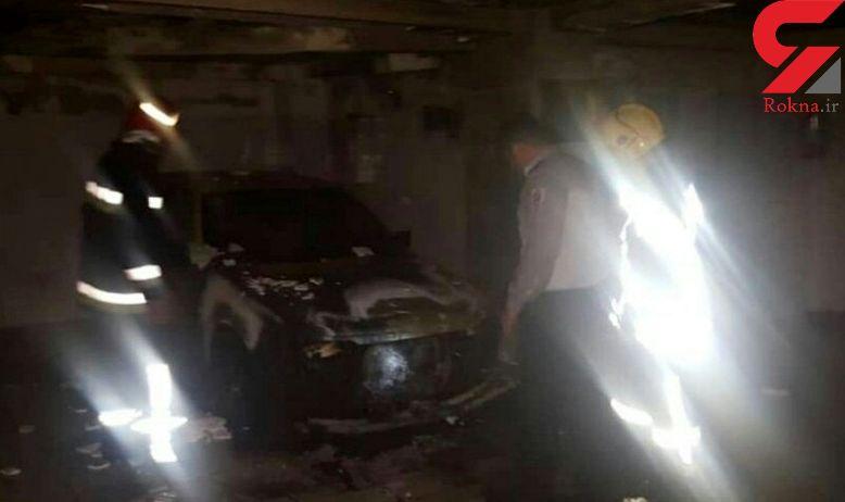 انفجار خودرو در پارکینگ خانه حادثه آفرید