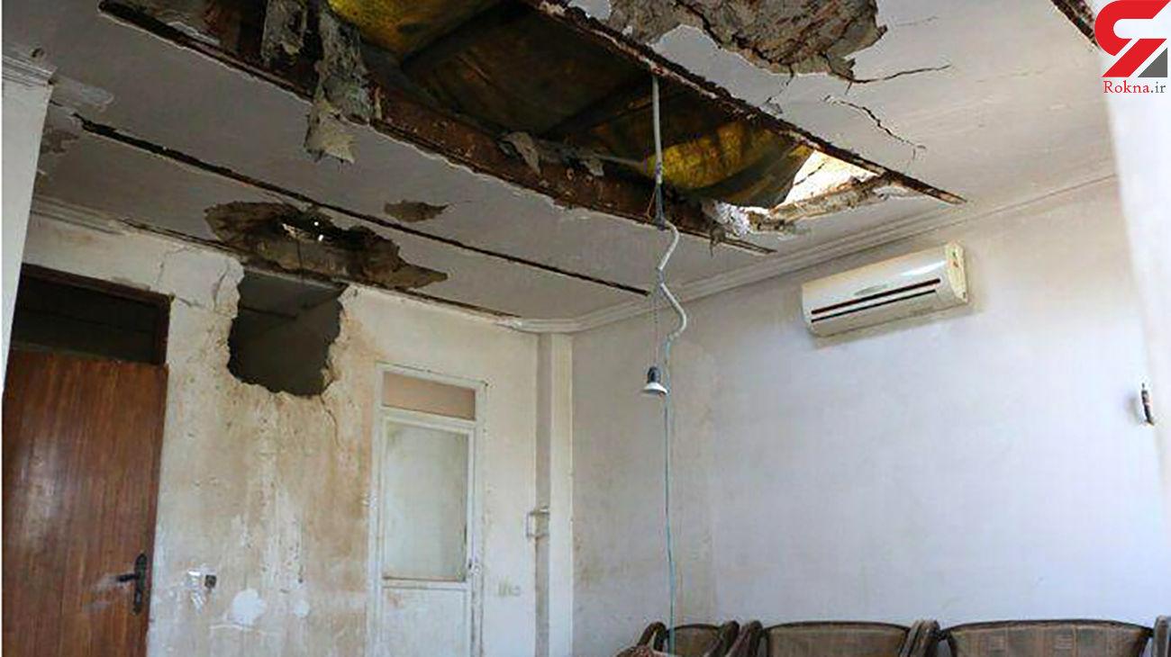 اصابت موشک به خانه ای در ایران بخاطر جنگ قره باغ + عکس