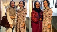 عکس یادگاری خاطره اسدی با فاطمه معتمدآریا و هانیه توسلی