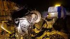 عجیب ترین عکس از پوکیدن سمند در تصادف با کامیون / 2 کشته در جاده ساوه+ جزییات