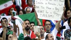 بنر یک هوادار ایرانی خبرساز شد+عکس