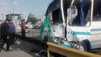 تصادف خونین مینی بوس با گاردریل / در تهران رخ داد