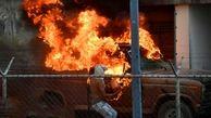 درگیری در مرز ونزوئلا شدت گرفت+عکس