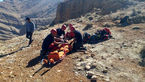سقوط 2 جوان در شیراز / هلکوپتر اورژانس به پرواز در آمد + عکس
