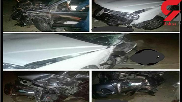 10 کشته و زخمی بر اثر تصادف زنجیره ای لندکروز در ایرانشهر+ عکس