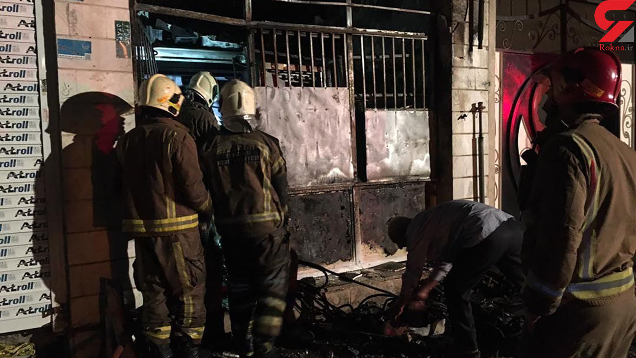 آتش سوزی شبانه در تهرانپارس + عکس و فیلم حادثه