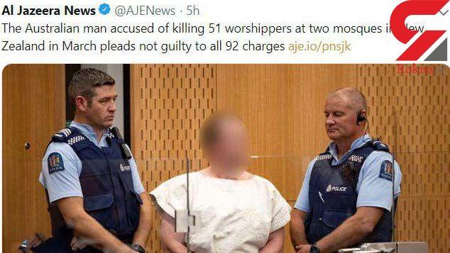 دادگاه قاتل استرالیایی برگزار شد / او 51 نفر را در مسجد کشت +عکس