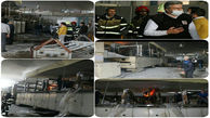 آتش سوزی یک واحد تولیدی در قزوین + عکس