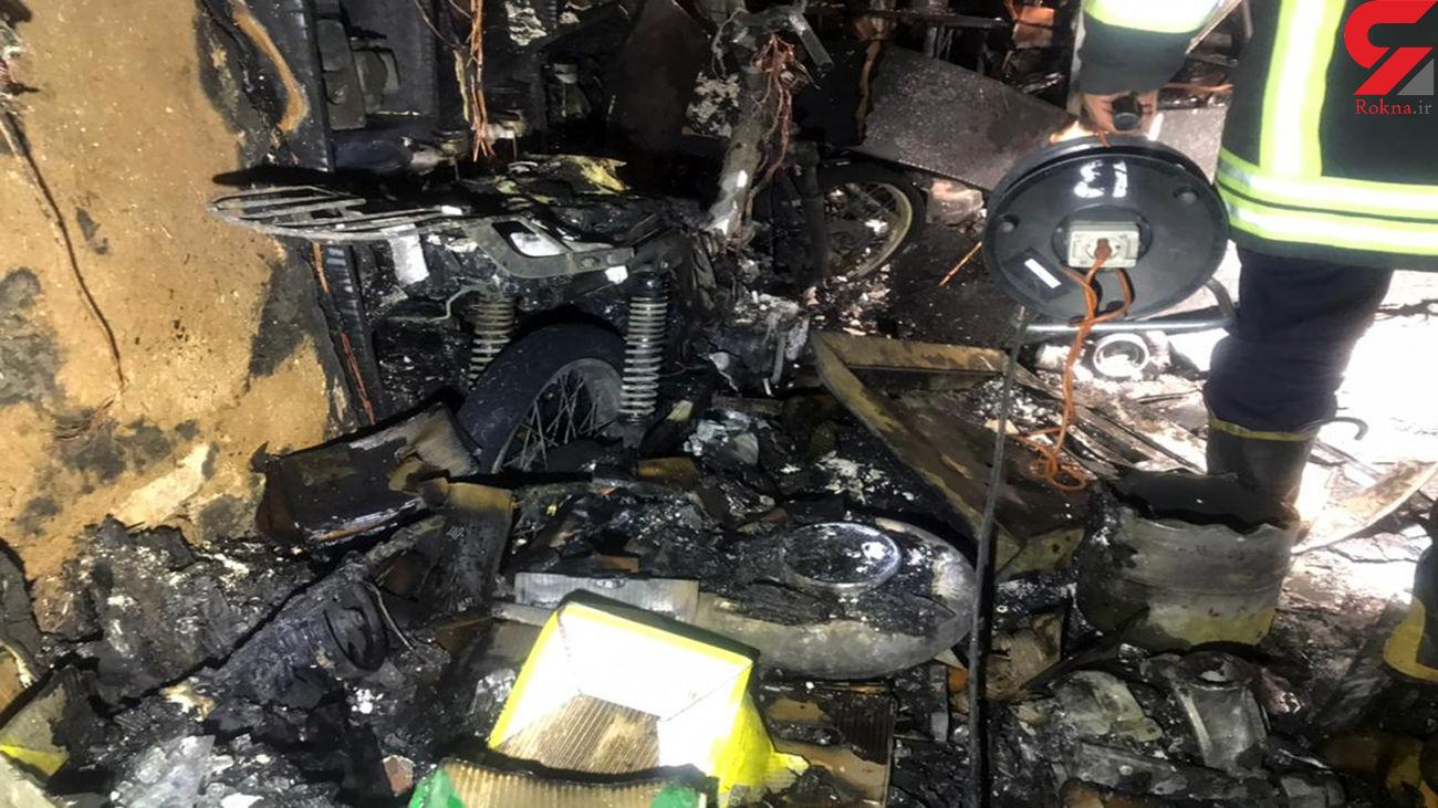 آتش سوزی در یک  مغازه خسارت مالی به دنبال داشت